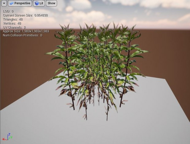 Grass, weeds being created in Blender for UE4