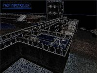 The fortress screenshot, styleized