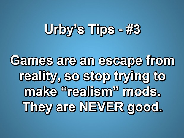 Tips for modders everywhere.