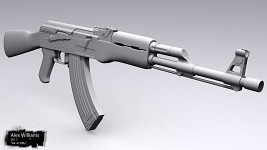 High Poly - AK-47 Rifle