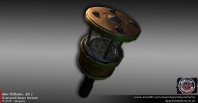 Low-poly Steampunk Batton Grenade