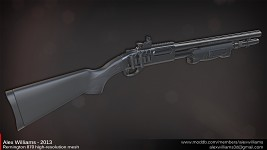 Remington 870 high-resolution mesh