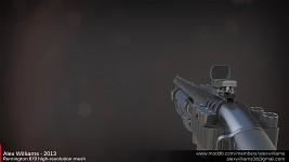 Remington 870 high-resolution mesh