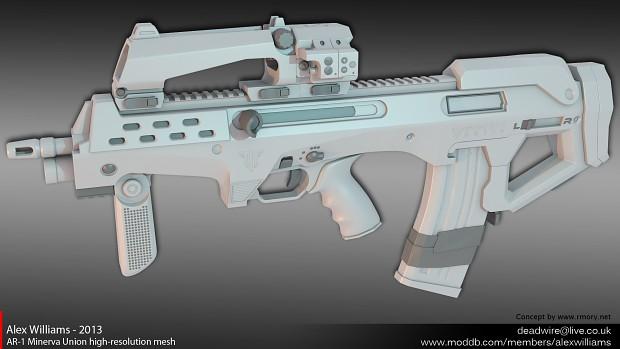 AR-1 Minerva Union high-resolution mesh
