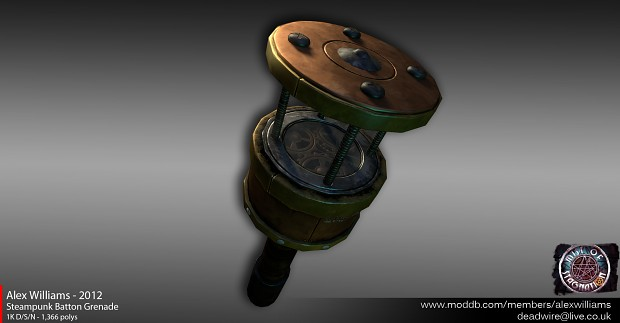 Low-poly Steampunk Batton Grenade