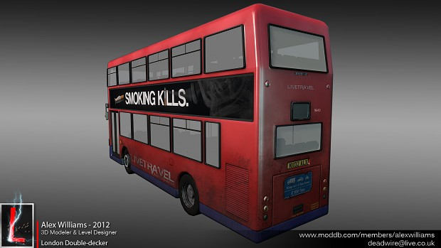 Low-poly London Double-decker