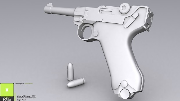 High Poly - Luger Pistol