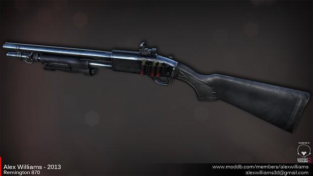 Remington 870 Lowpoly.
