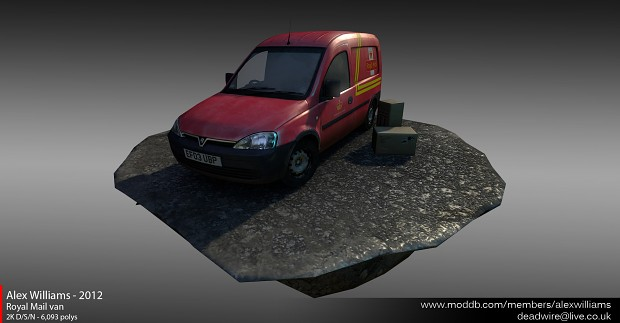 Low-poly Royal Mail van