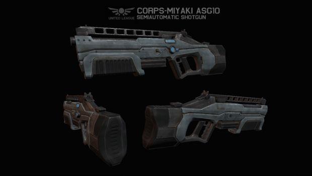 ULA Corps-Miyaki ASG10 Semiautomatic Shotgun