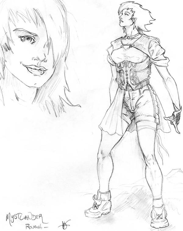 Mystlander concept for URU live Comic