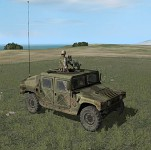 Familiar ARMA 1 texture of HMMWV