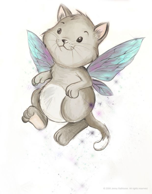 Fairy Cat Character Concept.