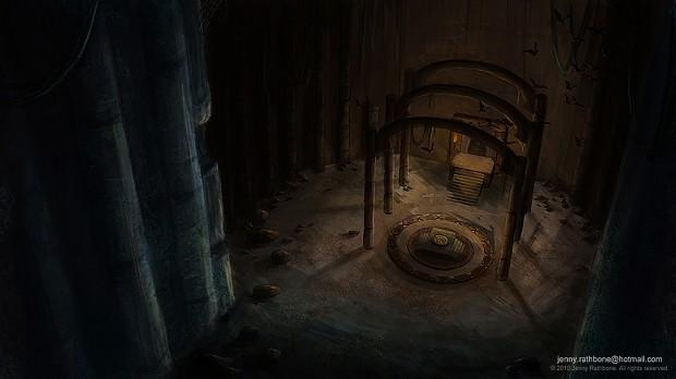 Underground Temple Entrance.