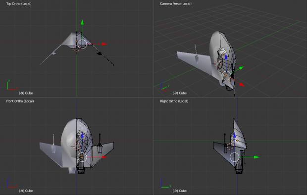 Salthi MK1 from Wing Commander 1 in Blender