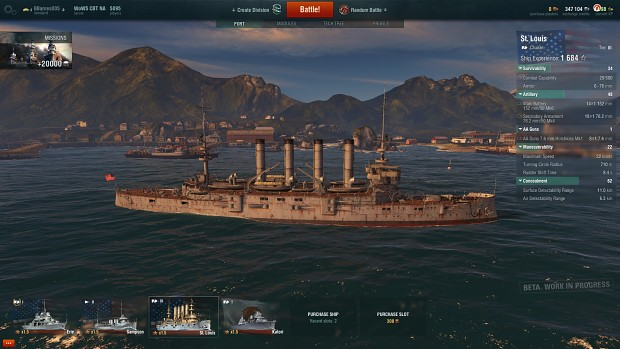 USS St.Louis - World of Warships Closed Beta
