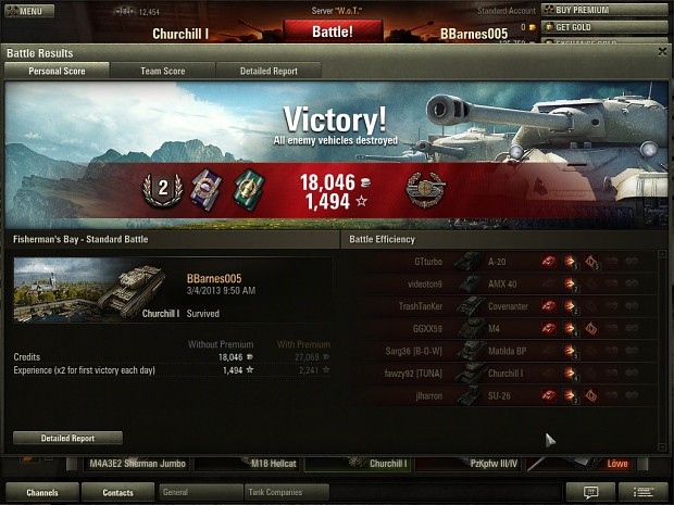 First good game in the Churchill I.