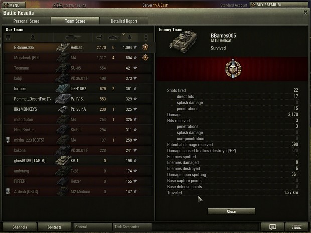 Another Good World of Tanks Match