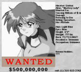 Random NR In-Game Art #15 - Hinotori Wanted Poster