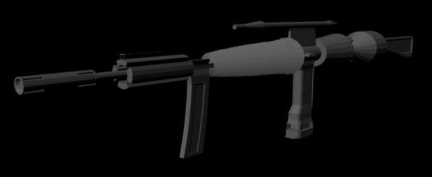 Fictional Assault Rifle World-Model In-Progress