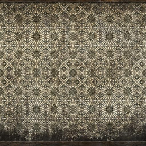 Wallpapered wall