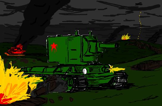 KV-2 drawing