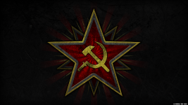 Soviet Hammer and Sickle Wallpaper