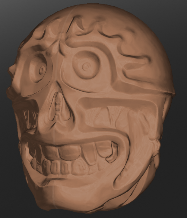 sculpt-o-head with creases
