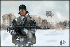BF3 inspired Russian Soldier