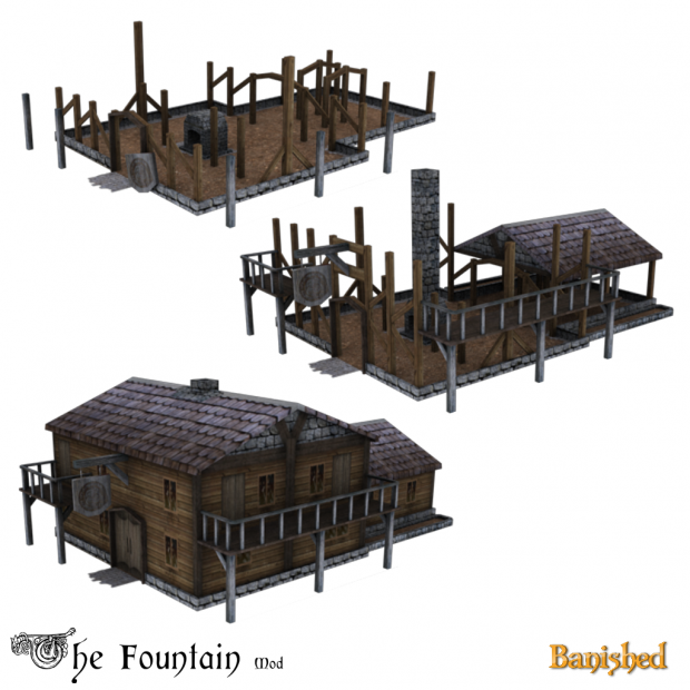The Fountain mod for Banished