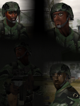 Official Faces (Guyanan Soldiers)