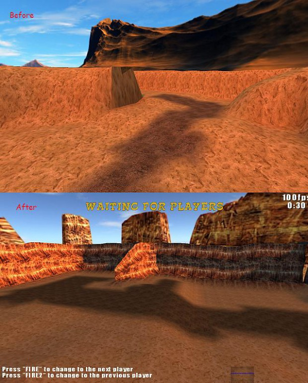 Lago terrain before+after