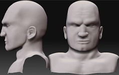 Astartes head sculpt