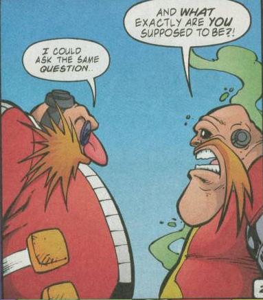 Robotnik met Eggman
