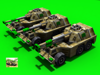 GLA Rhino Artillery model, and Upgraded version