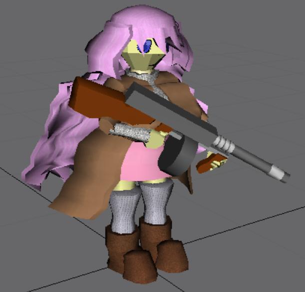 Kichona with gun