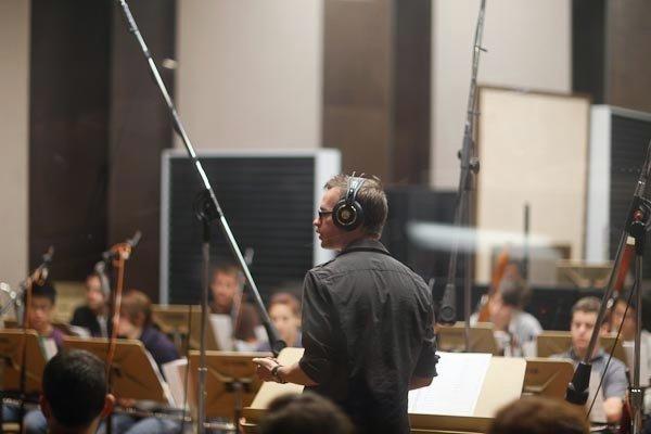 Pre recording session.