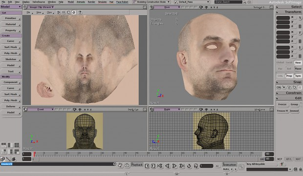 My first head modelling :-P