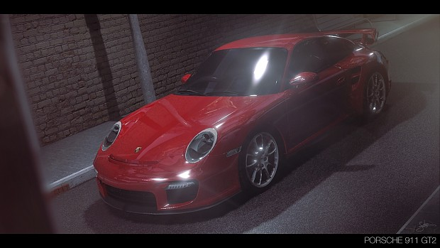 porsche 911 gt2 at night image keksz mod db. Black Bedroom Furniture Sets. Home Design Ideas