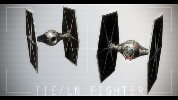 TIE Fighter textured
