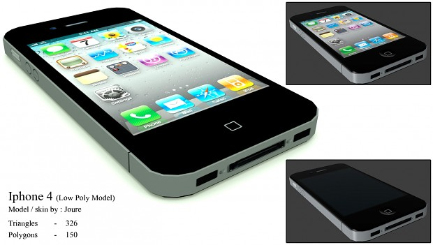 3DS MAX Iphone 4 render (hl2 low poly)