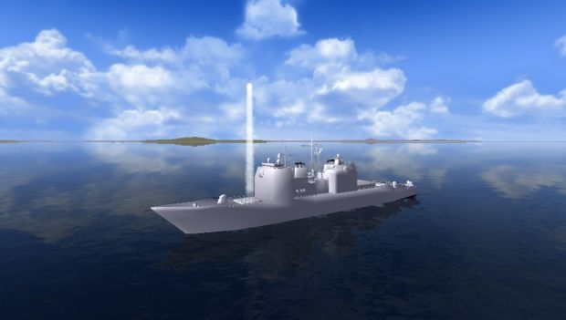 Aegis Ship Firing Standard Missile 3