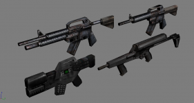 Infantry weapon models (Tiberian Dawn)