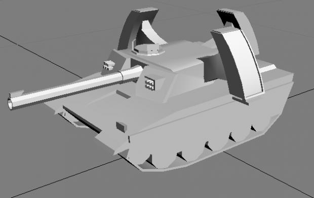 RA2 Mirage tank model
