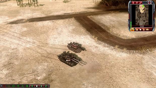 RA1 Heavy tank and RA2 Rhino tank