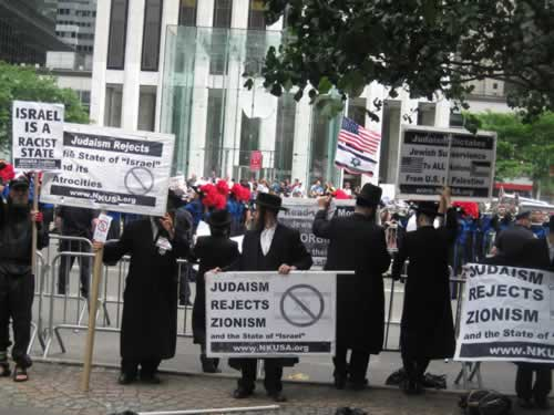 Protest during 'Salute to Israel' parade