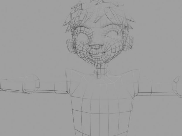cartoony character-Wireframe