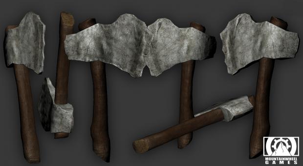 Prehistoric axe for game company