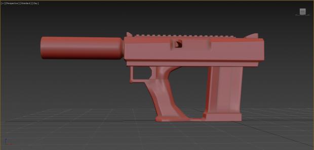 Deus Ex Stealth Pistol redesign