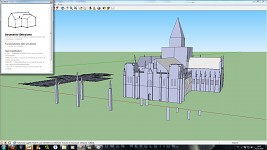Cathedral from Pillars of Earth in Google Sketchup